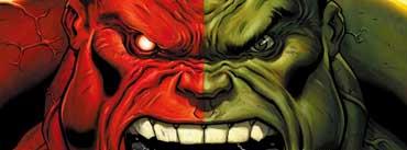 Red Hulk Vs Green Hulk Cover Photo