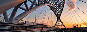 Bridge Sunset Black Road Cover Photo