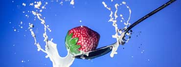 Strawberry Spoon Milk Cover Photo