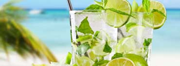 Tropical Cocktail With Lime Cover Photo