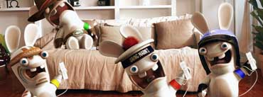 Rayman Raving Rabbids Playing Wii Cover Photo