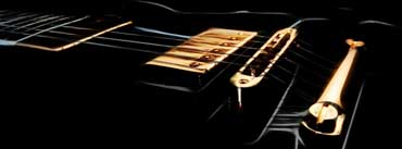 Black Electric Guitar Cover Photo