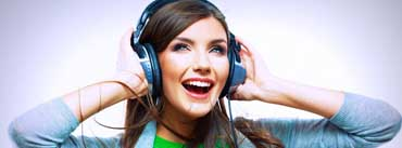 Girl Enjoy Of Music Cover Photo