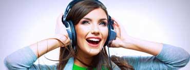 Girl Enjoy Of Music Cover Photo