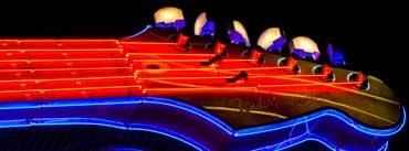 Neon Guitar Cover Photo