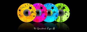 Colorful Music Compact Disc Cover Photo