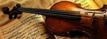 Violin And Notes Cover Photo