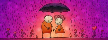 Couple Umbrella Love Friendship Cover Photo