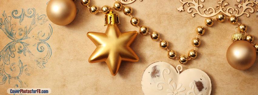 Christmas Star Balls Heart Cover Photo
