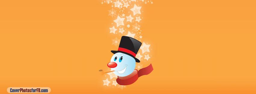 Snowman Orange Background Cover Photo