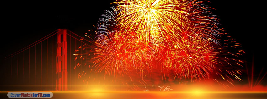 Happy New Year Fireworks Cover Photo