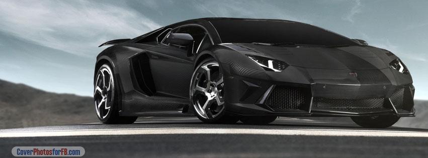 Black Lamborghini Aventador Supercar Cover Photo