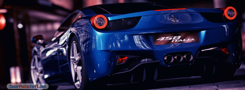 Ferrari 458 Italia Blue Cover Photo