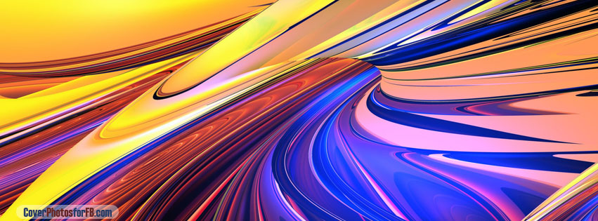 Yellow Blue Tan Abstract Art Cover Photo