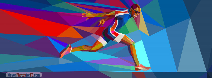 Male Olympic Runner Cover Photo