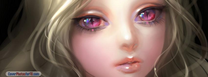 Cute Girl Eyes Cover Photo