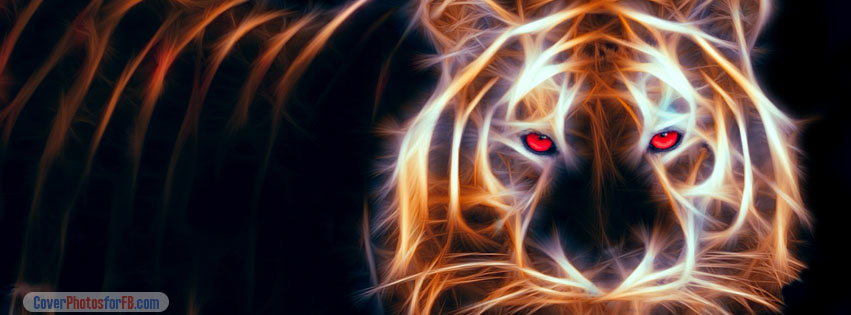 Tiger Digital Art Cover Photo