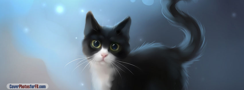 Cat Digital Art Cover Photo