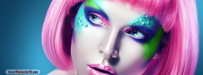 Girl With Makeup And Pink Wig Cover Photo