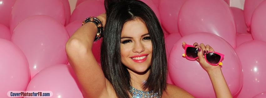 Selena Gomez Pink Balloons Cover Photo
