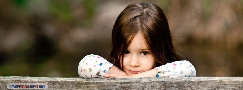 Child Sitting On A Bench Cover Photo