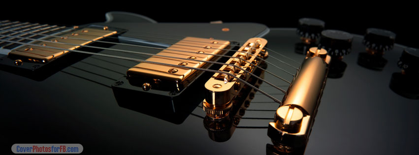 Black And Gold Electric Guitar Cover Photo